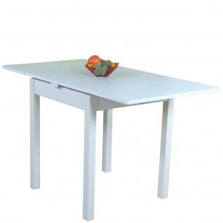 Esstisch weiß Ausziehbar Esszimmertisch Wohnzimmertisch Küchentisch Funktion
