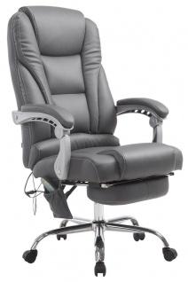 XXL Bürostuhl 150 kg belastbar grau Kunstleder Chefsessel Massagefunktion