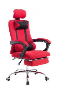 Bürostuhl rot Fußablage Chefsessel Gamer Gaming günstig stabil belastbar