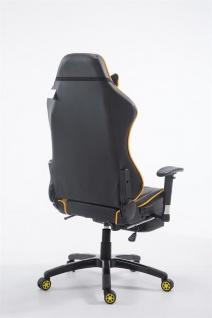 XL Bürostuhl 150 kg belastbar gelb Chefsessel Fußstütze Gaming Zockersessel - Vorschau 4