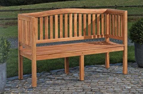 Gartenbank 120 cm Teakholz massivholz Terrasse Balkon Holzbank Sitzbank stabil