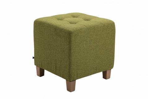 Sitzhocker Stoffbezug grün Sitzwürfel Sitzbank Hockerbank antik Vintage Ottomane