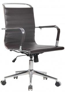"Bürostuhl "" Echtleder"" braun 136 kg belastbar Drehstuhl Schreibtischstuhl NEU"