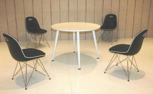 Tischgruppe schwarz weiß Essgruppe Esszimmergruppe Schalenstuhl modern design B1