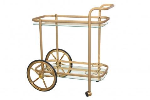 moderner Servierwagen goldfarben Flaschenhalter Rollbar design Getränkewagen
