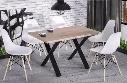 hochwertiger Esstisch Sonoma Esszimmertisch Küche Metallgestell modern design