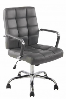 Bürostuhl bis 120 kg belastbar Kunstleder grau Drehstuhl modern design stabil