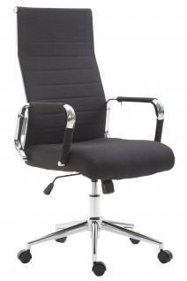 Chefsessel bis 136 kg belastbar schwarz Stoff Bürostuhl modern design hochwertig