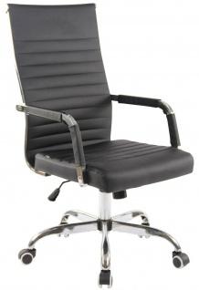 moderner Bürostuhl 120 kg belastbar Kunstleder schwarz Drehstuhl Chefsessel NEU