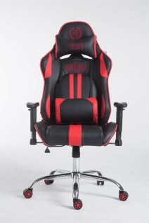 Racing Bürostuhl schwarz rot Drehstuhl Computerstuhl Schreibtischstuhl sportlich