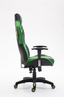 XL Chefsessel 150 kg belastbar schwarz grün Kunstleder Bürostuhl hochwertig - Vorschau 3