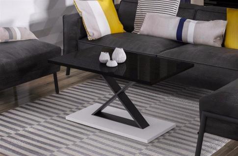 design Couchtisch Metall Wenge Wohnzimmertisch Sofatisch modern hochwertig