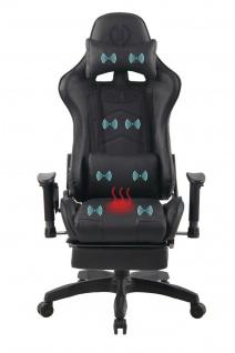 Bürostuhl schwarz Chefsessel Wärme- und Massagefunktion Gaming Gamer Zocker