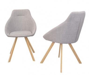2 X Esszimmerstuhle Grau Stoffbezug Stuhlset Sitzschale Lounge Sessel Modern Kaufen Bei Go Perfect
