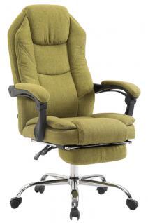 Bürostuhl grün Stoffbezug Chefsessel klassisch Fußablage hochwertig modern neu