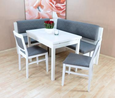 Eckbankgruppe weiß graphit Dinninggruppe Tischgruppe Essgruppe modern design neu