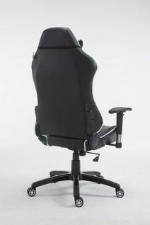 XL Bürostuhl 150 kg belastbar schwarz weiß Chefsessel Zocker Gamer Gaming - Vorschau 4