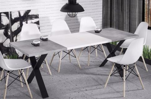 hochwertiger Esstisch 130-170 ausziehbar Beton Küche Esszimmer Metall modern