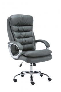 XXL Bürostuhl bis 235 kg belastbar grau Chefsessel Kunstleder Polsterung neu