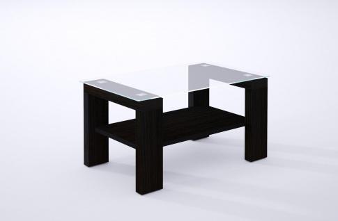 hochwertiger Couchtisch Wenge Glastisch edler Sofatisch modern design Wohnzimmer