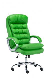XXL Bürostuhl bis 235 kg belastbar grün Chefsessel Kunstleder Polsterung neu