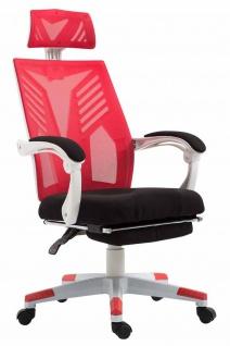 Bürostuhl bis 120kg belastbar weiß rot Chefsessel Netzbezug modern design