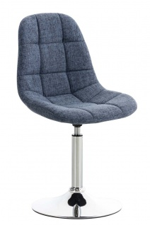 Esszimmerstuhl blau drehbar Stoffbezug Küchenstuhl design modern hochwertig
