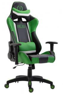 XL Bürostuhl schwarz grün Kunstleder Bürostuhl modern design hochwertig Gamer