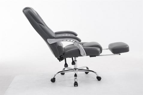 XXL Bürostuhl bis 150kg belastbar grau Kunstleder Chefsessel Fußablage Drehstuhl - Vorschau 3