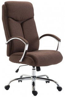 XL Chefsessel 140 kg belastbar Stoffbezug braun Bürostuhl hochwertig stabil