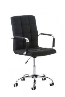 Bürostuhl schwarz Stoff edler Chefsessel hochwertig exklusiv günstig design neu