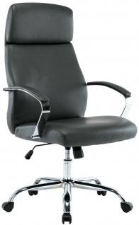 XL Chefsessel 136 kg belastbar grau Kunstleder Bürostuhl modern design NEU