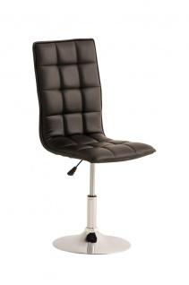 Esszimmerstuhl schwarz drehbar Lehnstuhl Küchenstuhl Kunstleder modern design