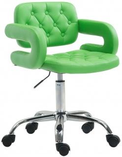 Bürostuhl grün feinstes Kunstleder Drehstuhl Arbeitshocker modern design stabil