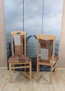 2 x Stühle Buche natur terra cognac massivholz Stuhlset günstig modern design