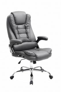 XL Bürostuhl 150 belastbar grau Kunstleder Chefsessel Drehstuhl Computerstuhl