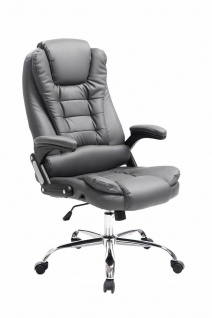 XXL Chefsessel grau 150 kg belastbar Bürostuhl schwere Personen robust stabil