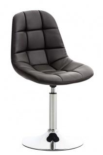 Esszimmerstuhl braun drehbar Kunstleder Küchenstuhl design modern hochwertig