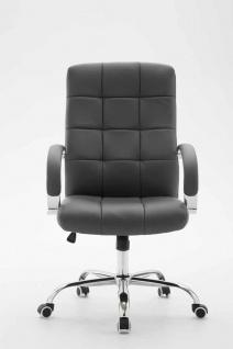 Bürostuhl bis 120 kg belastbar grau Kunstleder Chefsessel hochwertig klassisch - Vorschau 2