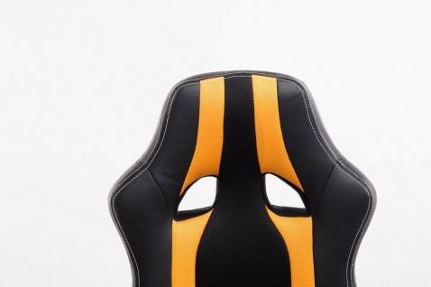 XL Bürostuhl 136kg belastbar schwarz gelb Kunstleder Chefsessel schwere Personen - Vorschau 5