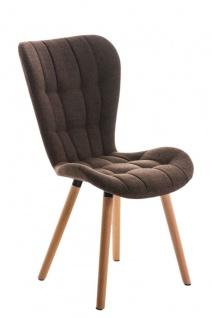 Esszimmerstuhl natur braun Stoffbezug Holz modern design stylisch Küchenstuhl