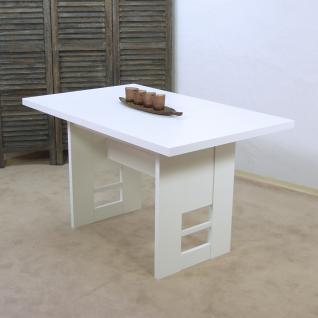 moderner Wangentisch Weiß Esszimmertisch Küchentisch Esstisch günstig preiswert