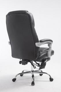 XXL Bürostuhl 150 kg belastbar schwarz Kunstleder Chefsessel Massagefunktion - Vorschau 4