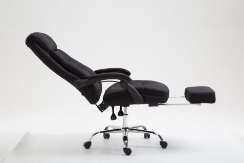 Chefsessel belastbar 136 kg Stoffbezug schwarz Bürostuhl klassisch Fußablage - Vorschau 3