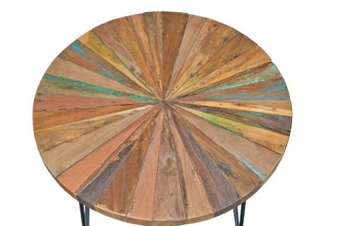 Beistelltisch rund massivholz / Altholz Couchtisch Sofatisch Wohnzimmertisch - Vorschau 2