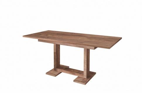 moderner Esstisch nussbaum ausziehbar Auszugtisch Küchentisch design günstig neu