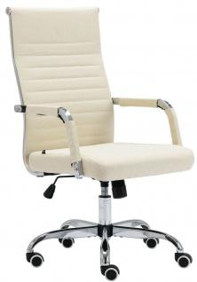 Bürostuhl 120 kg belastbar Stoff creme Chefsessel Drehstuhl Computerstuhl stabil