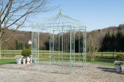 Pavillon Eisen antik grün Rankhilfe stabil Pergola Rosenbogen Rankgitter design