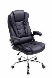 XL Bürostuhl 150 belastbar schwarz Kunstleder Chefsessel Drehstuhl Computerstuhl