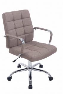 Bürostuhl bis 120 kg belastbar Stoffbezug taupe Drehstuhl modern design stabil